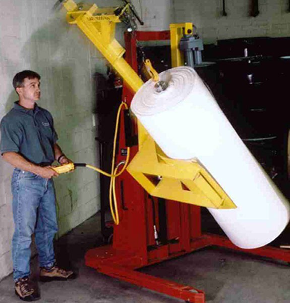 Battery powered roll turning attachment