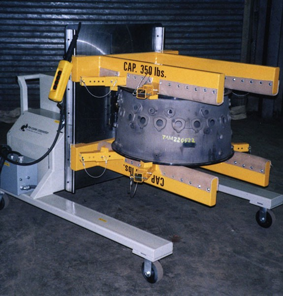 Electric powered clamp and rotate