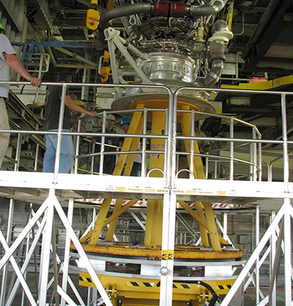 6,000lb Capacity engine and nozzle installation system Stennis space center