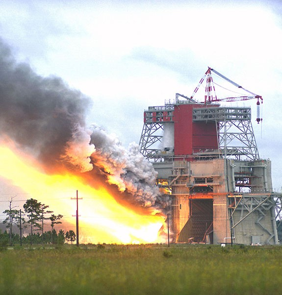 B1 Engine test Stennins Space center
