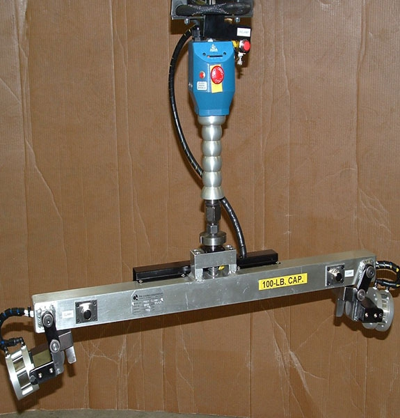 Air powered tray lifter